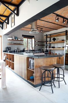 Creative Urban Industrial Decor Designs For Your Urban Lifestyle rustic industrial kitchens industrial chic #homeindustrialdecor #industrialapartments #industrialdecor