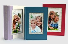 Upcycle old books by turning them into a picture frame. They make wonderful Mother's Day DIY gifts. It's easy to print your photos using the My Kodak Moments app.