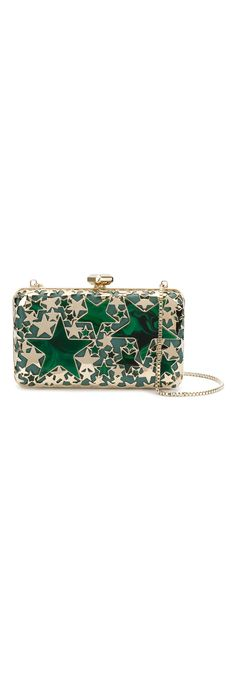 Enhance your fashion forward looks with an evening clutch bag. Reach for the stars with Elie Saab's box clutch bag. Buy the Elie Saab stars clutch bag at Farfetch.