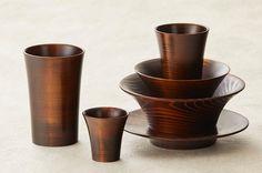 Kamiyama SHIZQ Project Wooden Tableware by Kiyoharu Hirose.