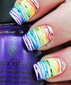 Rainbow Nails: Splatter Matter