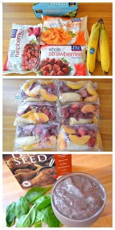 DIY individual smoothie packs- this makes that morning rush go so much faster and smoother. Just toss the frozen fruit in the blender