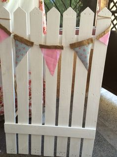 Bunting and Fence