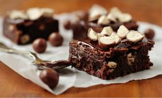 Whopper brownies covered in chocolate ganache with more Whoppers ..... death by chocolate!