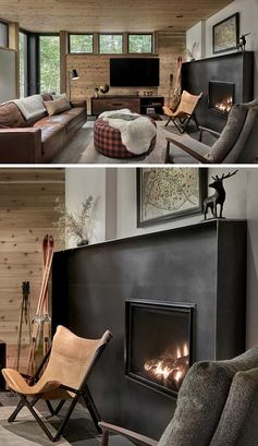 Design Detail – Blackened Steel Fireplace Surrounds Add An Industrial Touch