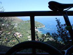 View over Marina del Cantone, from above Nerano.