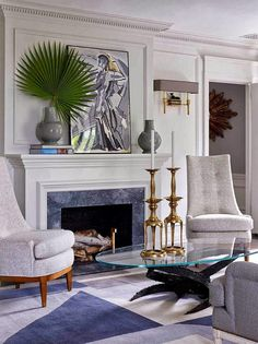 Modern and vintage mixed in this sophisticated Parisian chic living room