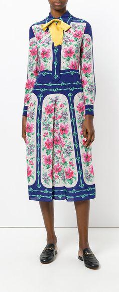 GUCCI rose print dress, explore Gucci on Farfetch now.