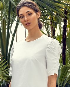 Ruched Cotton Top