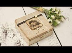 ▶ Pudełko retro z koronkami - tutorial DIY - YouTube