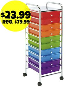 Michaels.com: Recollections 10 Drawer Rolling Organizer = $23.99 + FREE Pickup! Regularly $79.99!