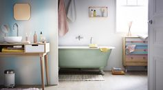 Salle de bain #zodio #salledebain #baignoire #bain #décoration #pastel #ambiance