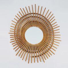 Miroir en rotin Eclipse Bakker : Decoclico