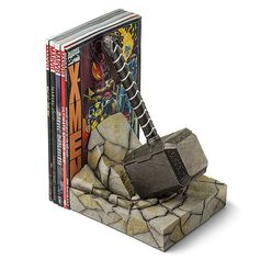 Are you bookworm enough to wield Mjolnir? The Thor Hammer Bookend is hand-painted, individually-numbered, and comes with a certificate of authenticity.