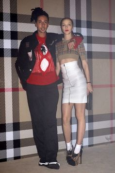 #Ghali and #MariacarlaBoscono in #Burberry at the #VivienneWestwoodandBurberry party in London