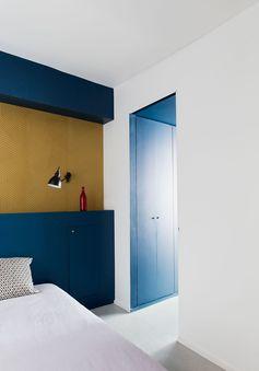Chambre à coucher  Appartement parisien de 50m2- GCG Architectes