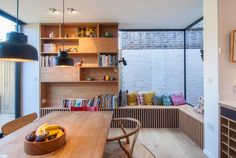 A Home Extension Made Space For This Window Seat And Bookshelf