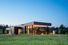 The Design Of This Modern House In Montana Was Influenced By The Surrounding Landscape