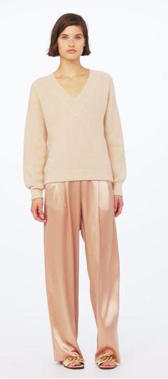 Tory Burch Oversized V-Neck Sweater