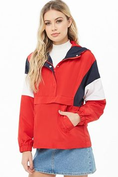 Colorblock Toggle Drawstring Anorak