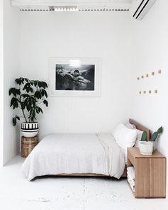 Encore une jolie chambre minimaliste ! #chambre #bedroom #interiordesign