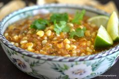 Fire Roasted Tomatillo & Corn Salsa ~ everything that goes into this zesty salsa is charred over an open flame first, so the rich, smokey flavor is infused throughout. Enjoy it with grilled meats, poultry, fish, and tacos, or simply with a big bag of tortilla chips.