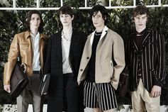 Breezy silhouettes, crisp fabrics and an engaging mix of neutrals cut with darker tones, a look at signature pieces from the #FerragamoSS18 Men's collection.