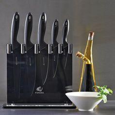 Bloc 5 couteaux en acier inoxidable Silhouette, signé Viners, idéal dans une cuisine moderne et contemporaine. Un cadeau d'exception avec 5 couteaux.