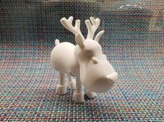 First deer from Articulated Christmas Toys 🙂 0.15 & 15% infill ~6hr 30min#toysandgames #prusamini