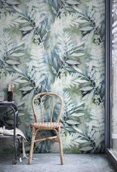 Aquarelle peinte laisse murale  Auto adhésive amovible fond