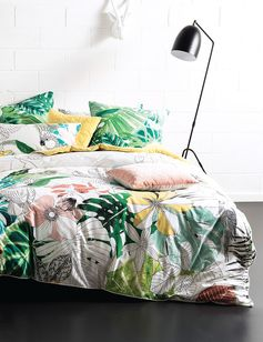 Lyrical and fresh, this pretty watercolour tropical duvet cover set will have you daydreaming of holidays in warmer places!
