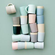 Gobelet en céramique (par 4) menthe Sophie Bloomingville : Decoclico