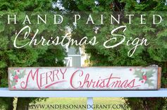 anderson + grant: Painting a Merry Christmas Sign