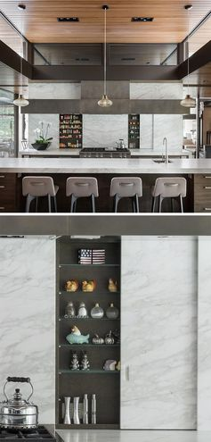 A Hidden Spice Rack Keeps This Kitchen Uncluttered But Always Ready For Cooking