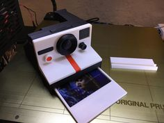 Miniature Polaroid camera by Mario De Dios Yepez #practical #prototyping #prusai3