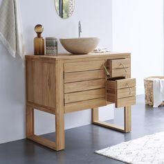 Equipé de plusieurs espaces de rangement, il sera le meuble idéal pour votre salle de bain. Vous serez séduits par ses lignes actuelles et l'élégance de son naturel. #tikamoon