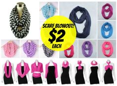 *HOT!* PinkEpromise:  Infinity Scarves (13 colors/styles) = $3.75 Shipped! Regularly $24.99!