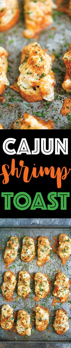 Cajun Shrimp Toast - Damn Delicious