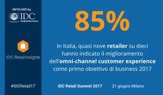In Italia, quasi nove retailer su dieci hanno indicato il miglioramento dell'omni-channel customer experience come primo obiettivo di business 2017