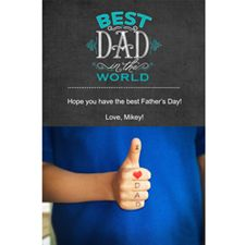Add a special message for Dad with a thumbs up photo in a Father's Day photo card. You can make photo cards on the KODAK Picture Kiosk or with the My KODAK MOMENTS app.