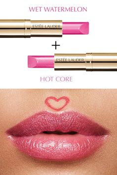 Perfect your pout with Pure Color Love in Wet Watermelon and Hot Core.