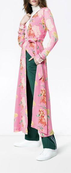 Ganni Pink Floral Marceau Georgette Maxi Dress