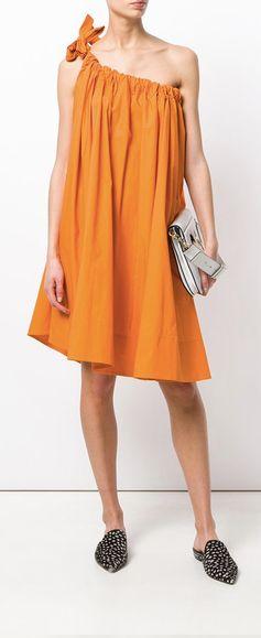 Ter Et Bantine Ruched One-Shoulder Dress