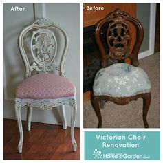 Victorian Chair Renovation. Learn how to renovate. Another good tutorial at the Jordan Valley Home & Garden Club.