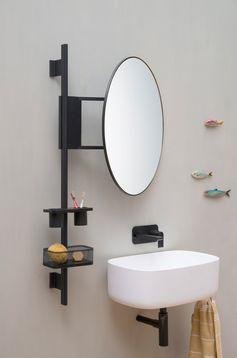 Étagère murale pour salle de bain PROP by EVER by Thermomat Saniline design Monica Graffeo