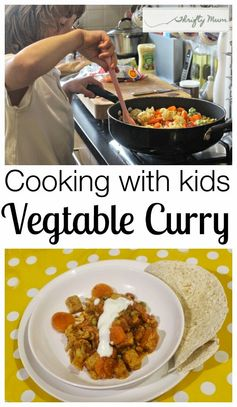 A Thrifty Mum: Vegetable Curry - Cooking with kids