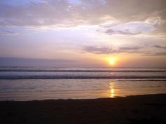 sunset on the beach #ecuador
