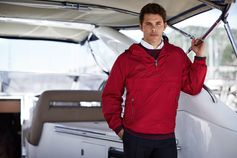 Wearing a water-resistant windbreaker, James Marsden is ready for wherever his voyage will take him