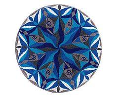 Tapis de bain DAPHNE 100% acrylique, multicolore - Ø80