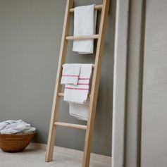 Porte-serviettes échelle en chêne brut couleur naturel Hambledon : Decoclico